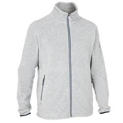 男款遊艇競賽航海刷毛外套-灰色
