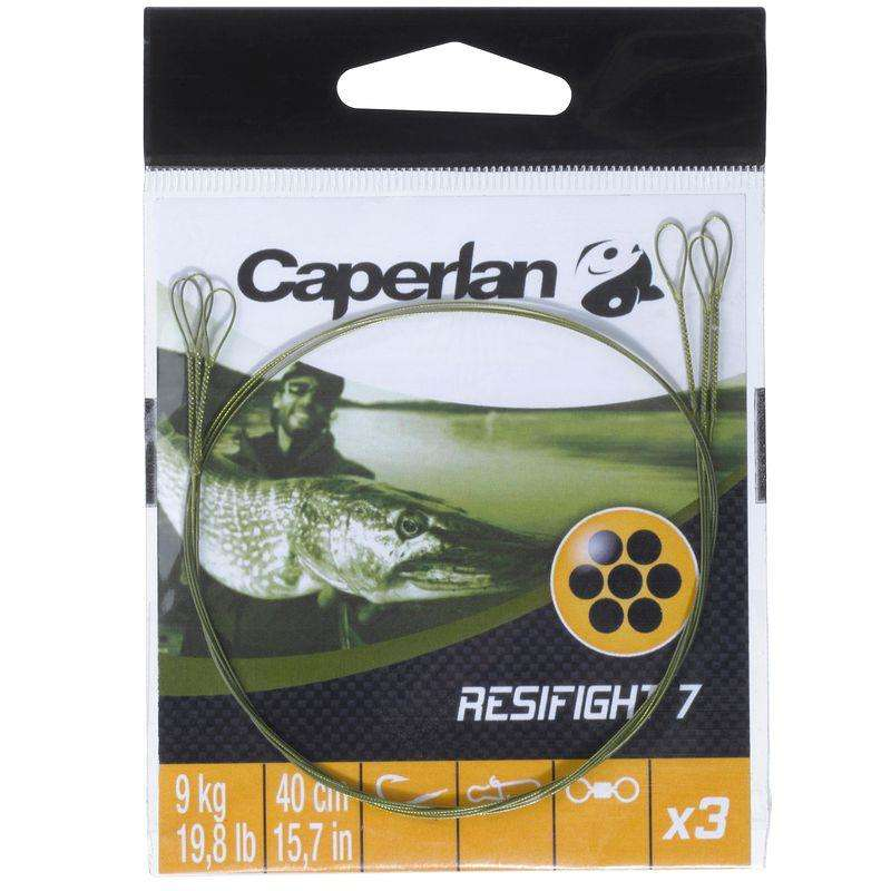 PREDATORS RIGGED HOOKS, WIRE TRACES Fishing - RESIFIGHT 7 2 LOOPS 9KG CAPERLAN - Fishing