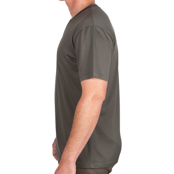Camiseta de caza de manga corta transpirable 100 verde