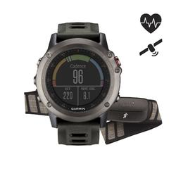 Reloj GPS multideporte con cinturón cardio Fenix 3 Performer gris
