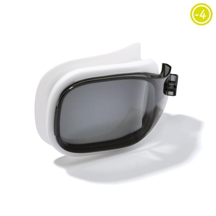 Cristal -4 para las gafas de natación 500 SELFIT Talla S ahumado