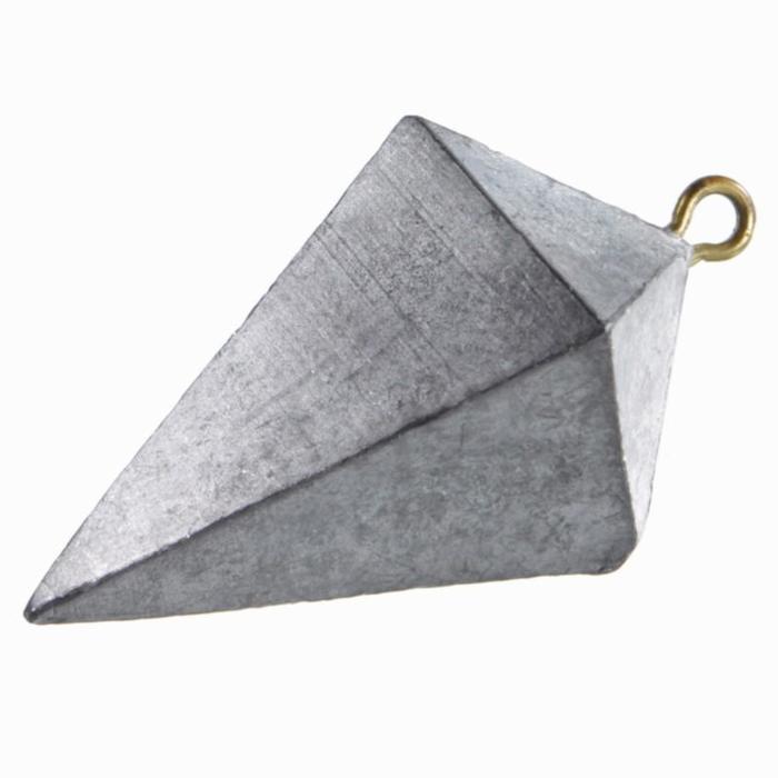 Plomb de pêche en mer pyramide