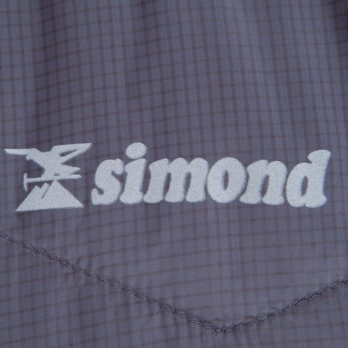 Chaqueta Acolchada Alpinismo Simond Hybrid Sprint Hombre Gris
