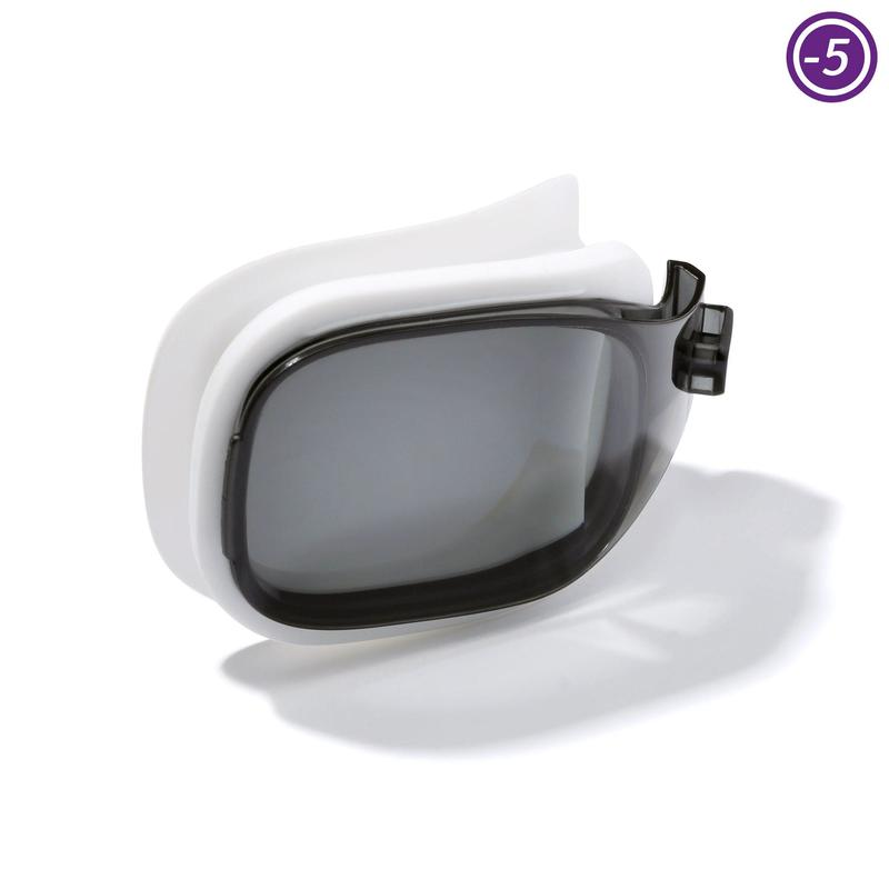 smoked lens for SELFIT 500 swimming goggles Size L -5