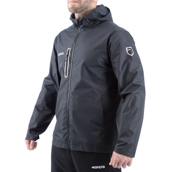 Veste pluie imperméable de football adulte T500 noire - 848414
