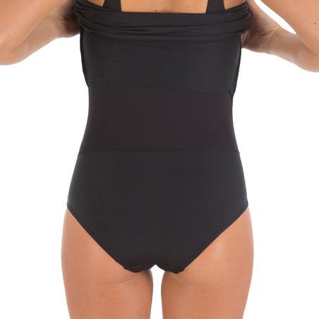 Traje de baño Mujer Natación Nabaiji Kaipearl Moldeador Falda Una Pieza Negro