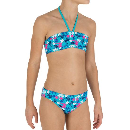 Meisjesbikini bandeaumodel AG Palm meerkleurig - 848470