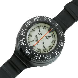 Compas boussole de plongée sous-marine de poignet noir