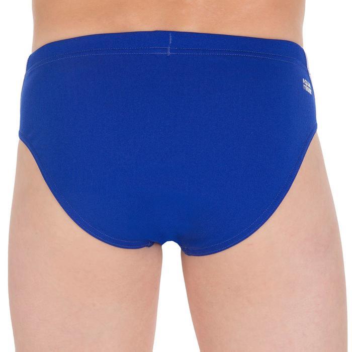 Zwemslip voor jongens 900 Yoke blauw wit