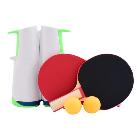 Rollnet Adjustable Table Tennis Net + 2 Rackets + 2 Balls Set | artengo