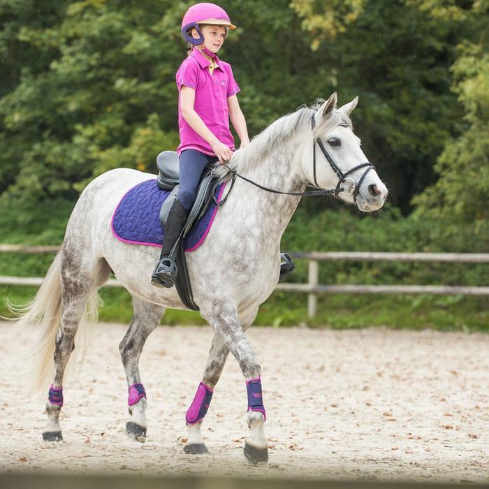 Pantalon équitation enfant FULLSEAT noir et - 848934