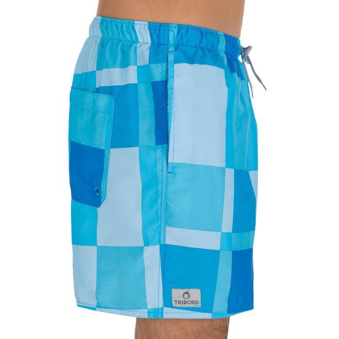 Hendaia Cube 男士短版游泳平口褲 - 藍色