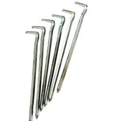 Piquetas de acero de 16 cm para tiendas de campaña (x 6).