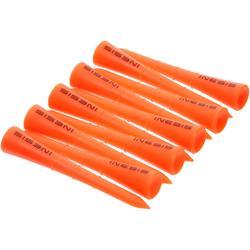 Golf Tees Kunststoff 70mm 10 Stück orange