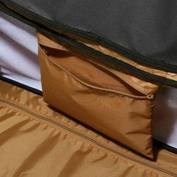 Trolleytas ruitersportmateriaal gemêleerd grijs/camel 80 liter - 849618