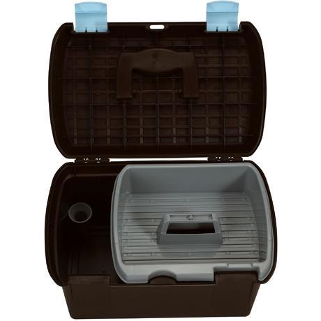 mallette de pansage quitation gb 500 marron et bleu ciel. Black Bedroom Furniture Sets. Home Design Ideas