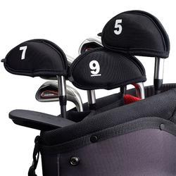Headcover voor iron 9 stuks zwart