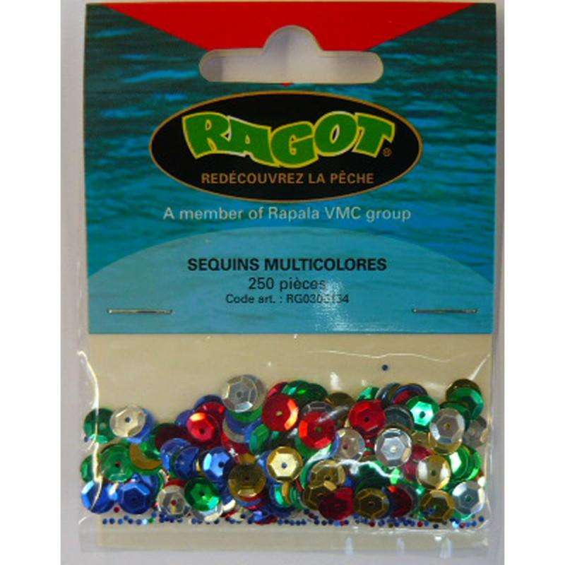 SURFCASTING RIGGING ACCESSORIES - MULTICOLOURED SEQUINS X250 BLUE FOX