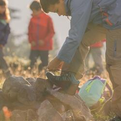 Waterdichte wandelschoenen Arpenaz 100 mid voor kinderen, met veters - 850619