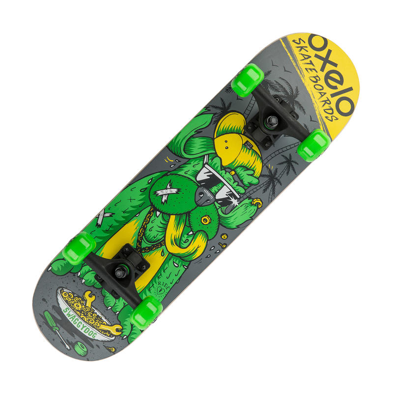 KIDS SKATEBOARD PLAY 3 DOG GREEN