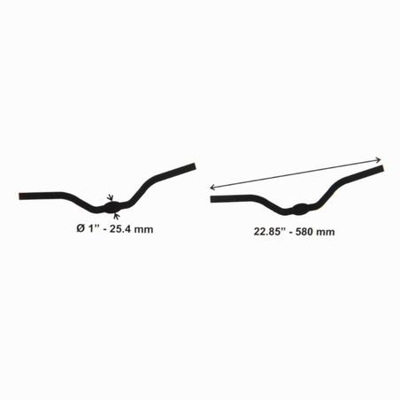 25.4mm Leisure Handlebar Black