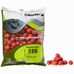 bouillettes pêche de la carpe Wellmix Boilies 20mm Strawberry 1 kg