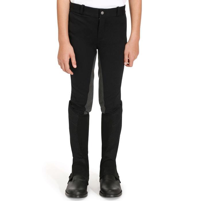 Pantalon équitation enfant FULLSEAT noir et - 852578