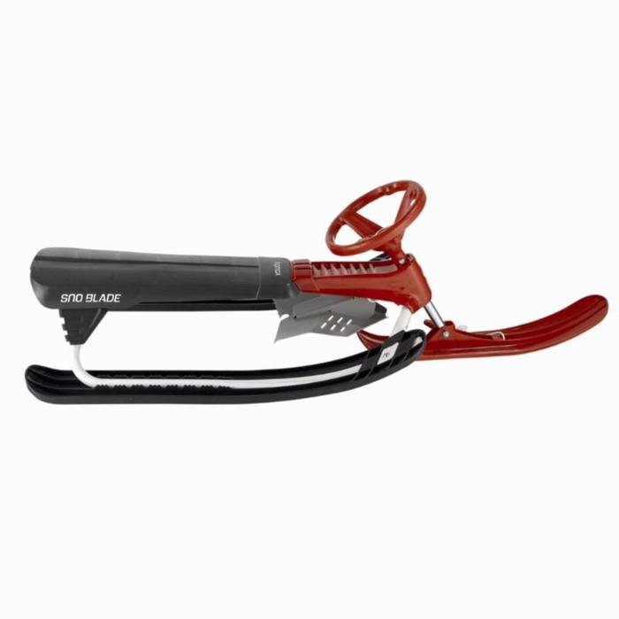 Trineo Snowblade negro / rojo niño biplaza con freno