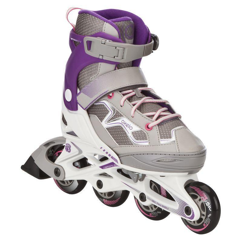 Patines fitness niños FIT 3 JUNIOR blanco violeta