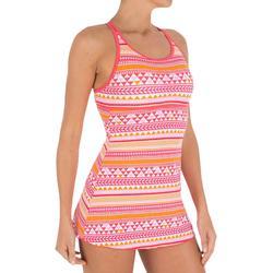 Riana Dress Women's One-Piece Swimsuit - Allknit Orange