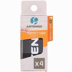 Beschermende tape voor padel zwart