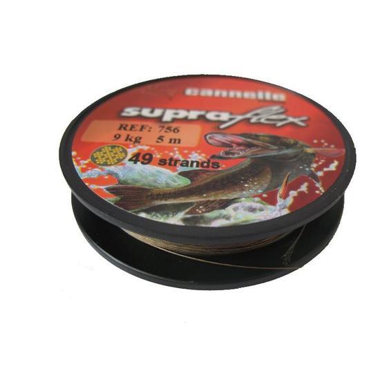 metalen onderlijnen vissen op roofvissen <12 kilo Supraflex spoel - 855844