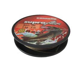 Metalen onderlijnen vissen op roofvissen < 12 kg spoel Supraflex