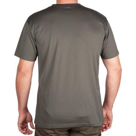 Hunting Breathable Short-Sleeve T-Shirt 100 - Green