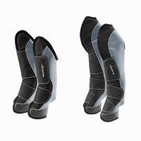 4 guêtres de transport équitation cheval VOYAGEUR 500 noir et gris
