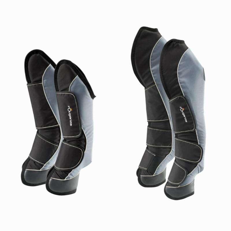 PROTECTION DU CHEVAL AU REPOS Equitazione - Paracolpi TRAVELLER 500 WAVE GRIGIO-NERO FOUGANZA - Attrezzatura cavallo