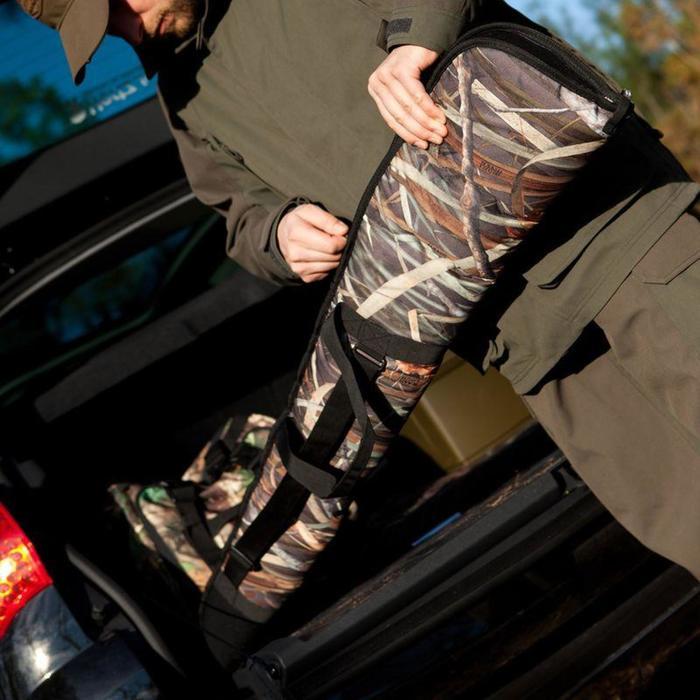 Geweertas camouflage moeras 150 cm