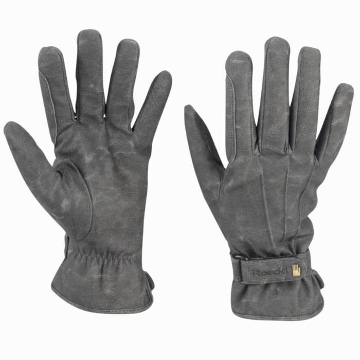 Gants chauds équitation ROECKL WAGO SUPREMA gris adulte - 859320