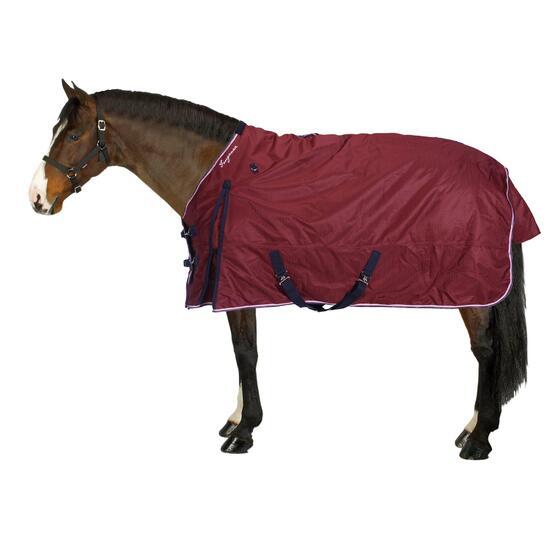 Buitendeken Allweather 300 1.000 D kastanjebruin - pony en paard - 859510