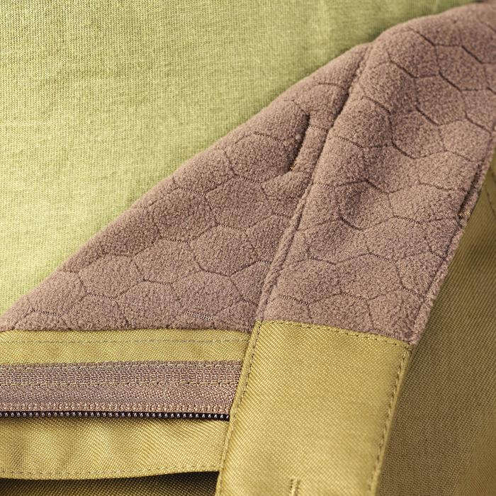 Pantalón Caza Solognac BGP 500 Impermeable Cálido Verde