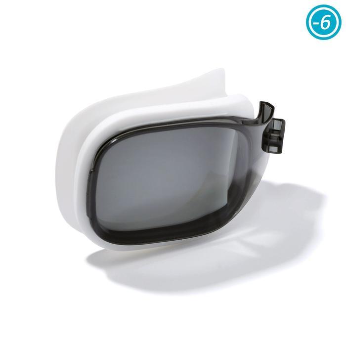 Glas op sterkte -6 voor zwembril Selfit 500 maat L getint