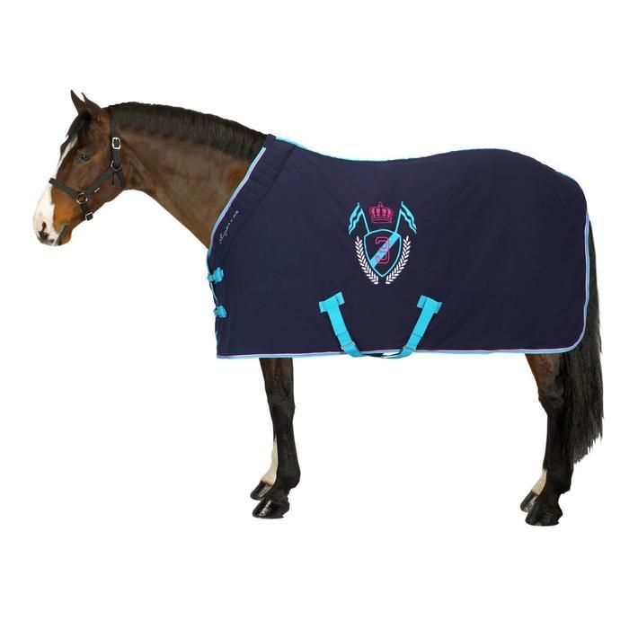 Chemise d'écurie équitation POLAR 500 marron -  poney et cheval - 862466
