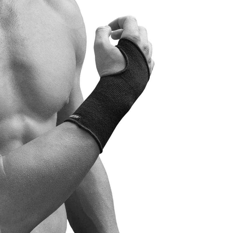Soft 100 Men's/Women's Left/Right Compression Wrist Support - Black