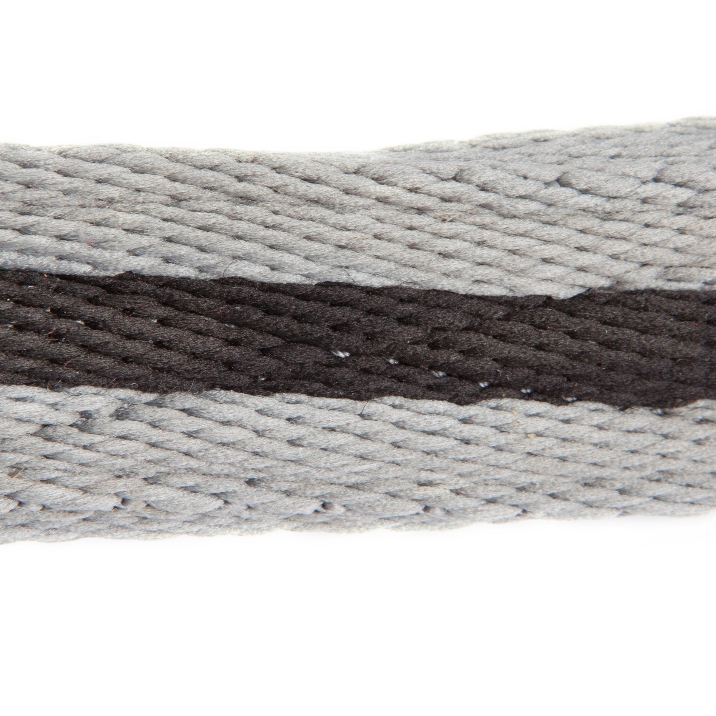 Soft Horse Riding Curb Strap - Black/Grey