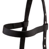 Schooling Horse Riding Cavesson for Horse - Black