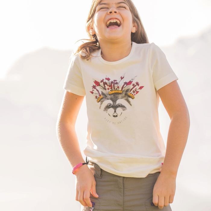 T-Shirt de randonnée enfant fille Hike 500 hibou - 864605