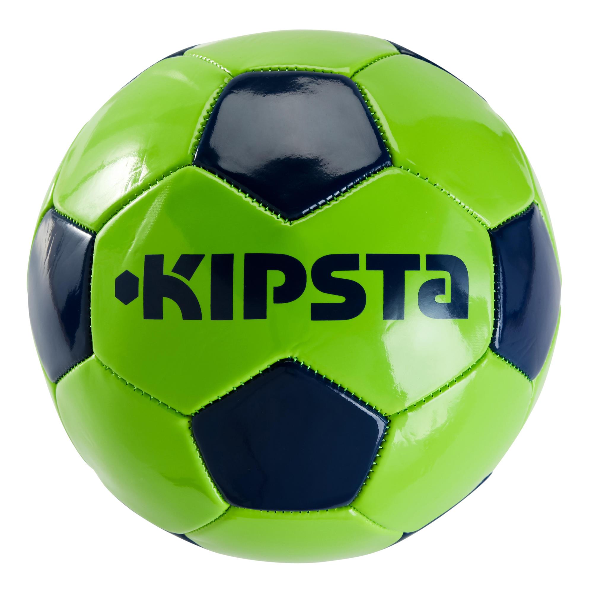ballon de football first kick taille 5 14ans vert bleu. Black Bedroom Furniture Sets. Home Design Ideas