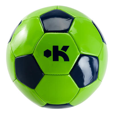 First Kick Football Size 5 Over 12 Years - Green/Blue