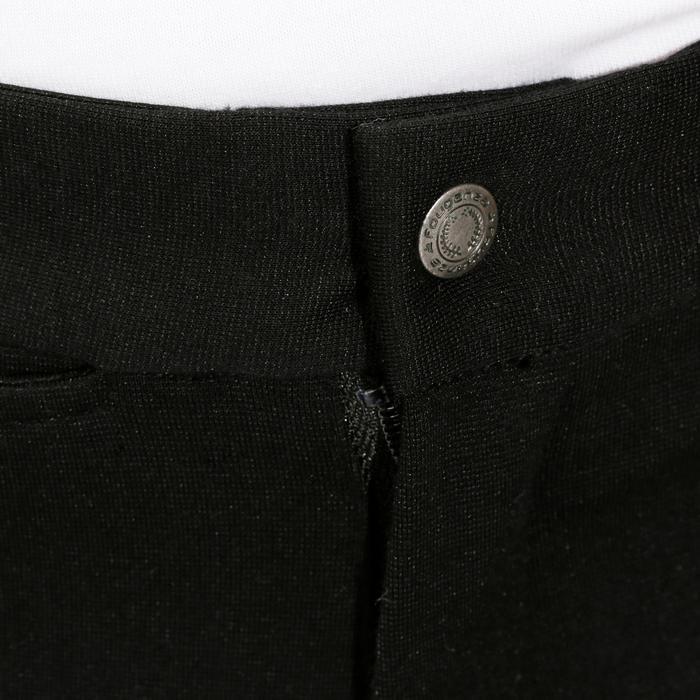 Pantalon équitation enfant FULLSEAT noir et - 865519