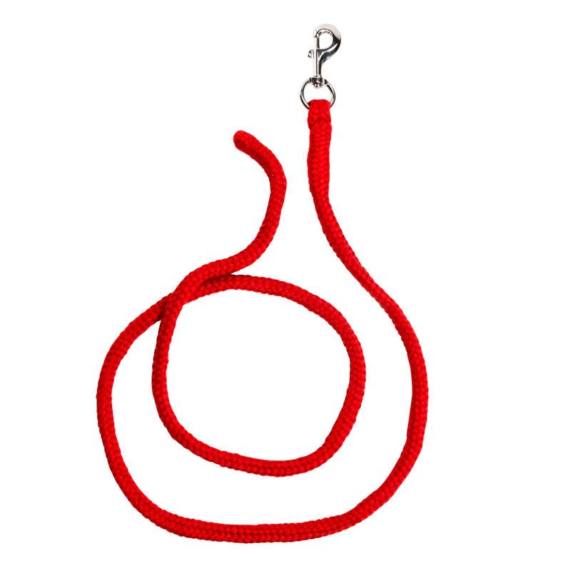 Cuerda equitación poni y caballo TACK Rojo - 2 m